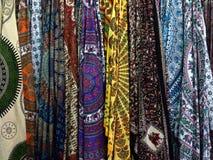 Tessuti con i motivi orientali Fotografia Stock