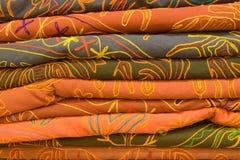Tessuti indiani Fotografia Stock