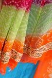 Tessuti indiani Fotografia Stock Libera da Diritti