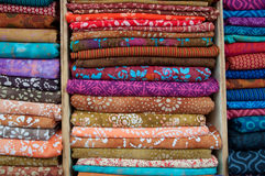 Tessuti indiani da vendere Fotografie Stock