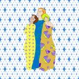 Tessuti modellati Draped delle ragazze royalty illustrazione gratis