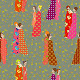 Tessuti modellati Draped delle ragazze Fotografia Stock