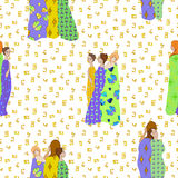 Tessuti modellati Draped delle ragazze illustrazione vettoriale