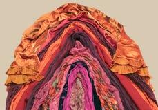 Tessuti orientali rossi Immagine Stock