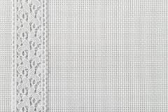 Tessuti per ricamo una traversa, un merletto ed i nastri Immagine Stock Libera da Diritti