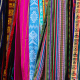 Tessuti sudamericani Colourful Fotografia Stock