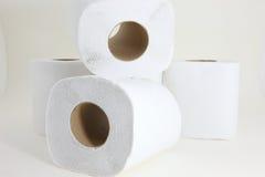 Tessuti sui precedenti bianchi Fotografie Stock