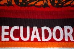 Tessuti variopinti al mercato di Otavalo nell'Ecuador Immagini Stock Libere da Diritti