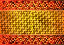 Tessuto africano della stampa, ornamento fatto a mano etnico per i vostri elementi geometrici di progettazione, di motivi etnici  illustrazione vettoriale