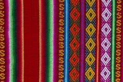 Tessuto andino in lana dello strato e dell'alpaga Immagini Stock Libere da Diritti