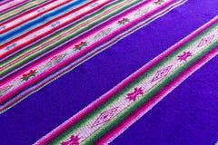 Tessuto andino in lana dello strato e dell'alpaga Fotografie Stock Libere da Diritti