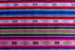 Tessuto andino in lana dello strato e dell'alpaga Fotografie Stock