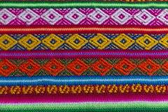 Tessuto andino in lana dello strato e dell'alpaga Immagine Stock