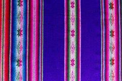 Tessuto andino in lana dello strato e dell'alpaga Fotografia Stock Libera da Diritti