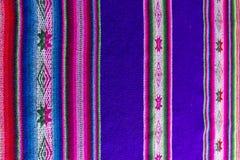 Tessuto andino in lana dello strato e dell'alpaga Fotografia Stock