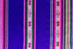 Tessuto andino in lana dello strato e dell'alpaga Immagini Stock