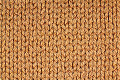 Tessuto arancio della lana Fotografia Stock