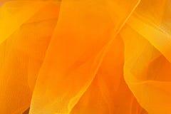 Tessuto arancio e giallo Fotografia Stock Libera da Diritti