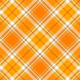 Tessuto arancione del plaid di Tartan Fotografia Stock Libera da Diritti