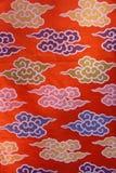 Tessuto asiatico del fiore Fotografia Stock Libera da Diritti