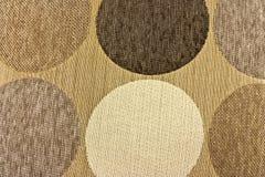 Tessuto beige con i cerchi Fotografie Stock