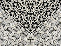 Tessuto bianco del merletto Fotografia Stock