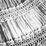 Tessuto in bianco e nero Fotografie Stock