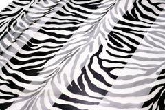 Tessuto in bianco e nero Fotografia Stock