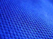 Tessuto blu Fotografie Stock
