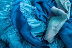 Tessuto blu Immagine Stock