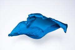 Tessuto blu astratto nel moto Fotografia Stock
