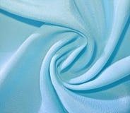 Tessuto blu-chiaro torto Fotografie Stock Libere da Diritti