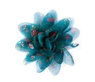 Tessuto blu del merletto del fiore Fotografia Stock Libera da Diritti