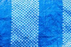 Tessuto blu del poliestere Fotografia Stock Libera da Diritti