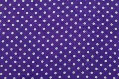 Tessuto blu del punto di Polka Fotografie Stock Libere da Diritti