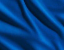 Tessuto blu del raso Fotografie Stock