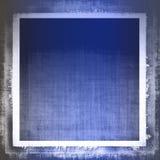 Tessuto blu di Grunge Fotografie Stock