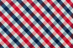 Tessuto blu, rosso e bianco del plaid fotografia stock libera da diritti
