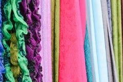 Tessuto brillantemente colorato Fotografia Stock Libera da Diritti
