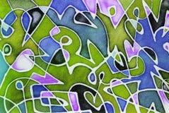 Tessuto colorato fotografie stock