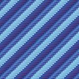 Tessuto con il modello della banda blu Fotografia Stock