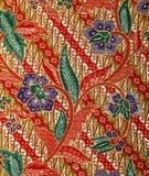 Tessuto con il modello floreale del batik Immagine Stock Libera da Diritti