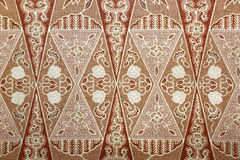Tessuto con il modello floreale del batik Fotografia Stock