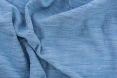 Tessuto corrugato blu-chiaro Immagini Stock