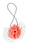 Tessuto decorativo del fiore Fotografie Stock
