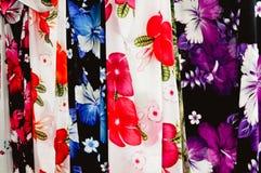 Tessuto dei sarong di Pareo Fotografia Stock Libera da Diritti
