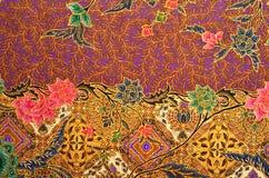 Tessuto del batik e del modello Fotografia Stock Libera da Diritti