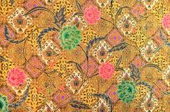 Tessuto del batik e del modello Immagine Stock
