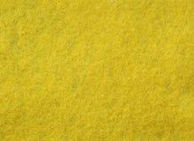 Tessuto del feltro di colore giallo Fotografia Stock