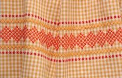 Tessuto del percalle dell'annata con testo fisso Fotografia Stock Libera da Diritti